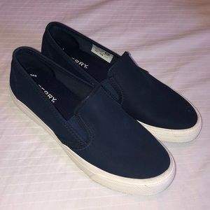 Navy blue Sperry Top-siders